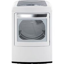 <strong>LG</strong> 7.3 Cu. Ft. Ultra Large Capacity Front Control Gas SteamDryer with Sensor Dry