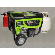 <strong>Smarter Tools</strong> GP-7500DEB 6200 Watts Propane or Gas Powered Generator with Electric Start and Battery