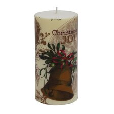 <strong>Zest Candle</strong> Christmas Bell Pillar Candle (Set of 4)