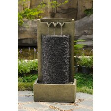 Polyresin and Fiberglass Stone Wall Water Fountain