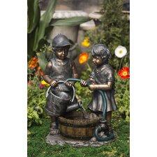 Polyresin and Fiberglass Kids Water Fountain