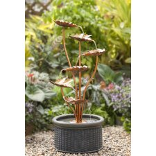 Polyresin and Fiberglass Leaves Water Fountain