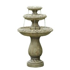 Polyresin and Fiberglass Tiered Tiered Fountain