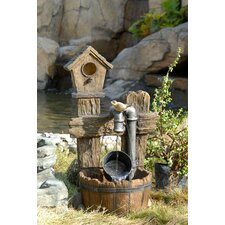 <strong>Fountain Cellar</strong> Polyresin and Fiberglass Tiered Bird House Fountain