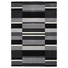 Jazz Grey / Black Blocks Loomed Rug