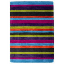 Jazz Multi Striped Loomed Rug