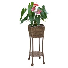 Wicker Patio Furniture Planter Stand