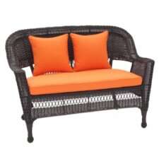 4 Piece Lounge Seating Group- Love Seat Cushions - Orange