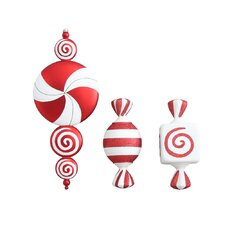 3 Piece Candy Ornaments Set