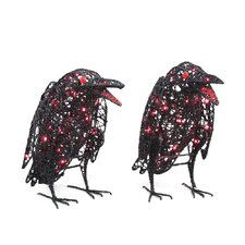 <strong>Wicker Lane</strong> Lighted Wire Ravens (Set of 2)