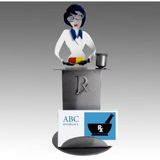 Desk Accessory Pharmacist Female Business Card Holder