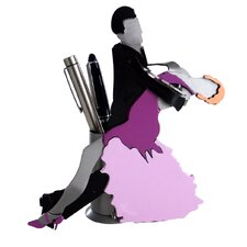 <strong>H & K SCULPTURES</strong> Desk Accessory Ballroom Dancers Pen Holder