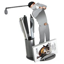 Desk Accessory Golf Driving Business Card Holder