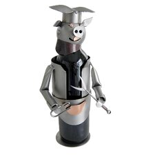 Barbeque Pig Wine Bottle Holder