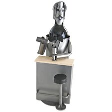 <strong>H & K SCULPTURES</strong> Bartender 1 Bottle Wine Caddy