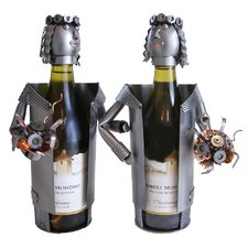 <strong>H & K SCULPTURES</strong> Bride / Bride Wine Caddy