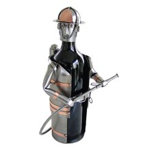 <strong>H & K SCULPTURES</strong> Fireman Wine Caddy