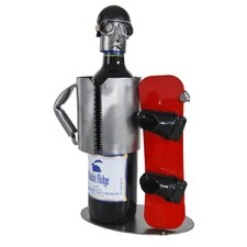Snowboarder Wine Caddy