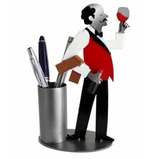 <strong>H & K SCULPTURES</strong> Desk Accessory Wine Steward Pen Holder