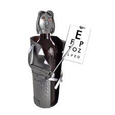 Female Eye Doctor Wine Bottle Holder