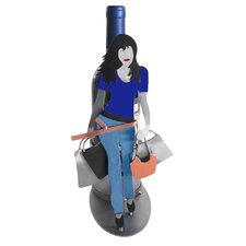 Shopaholic Silhouette Wine Bottle Holder
