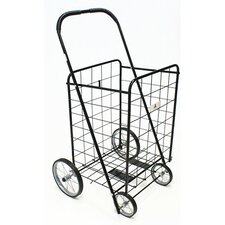 Large Shopping Cart with Metal Frame Wheels