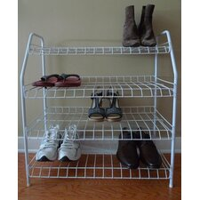 Contemporary 4 Tier Shoe Rack