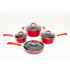 <strong>Gourmet Chef</strong> Nonstick Ceramic 8-Piece Cookware Set