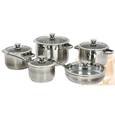 <strong>Gourmet Chef</strong> Stainless Steel 10-Piece Cookware Set