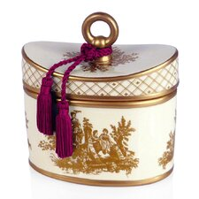 <strong>Seda France</strong> Classic Toile Citron Du Sud Ceramic Candle