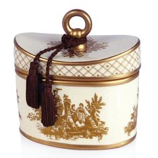 <strong>Seda France</strong> Classic Toile Japanese Quince Ceramic Candle