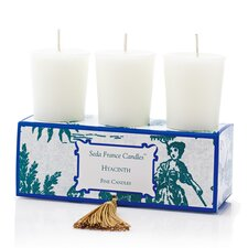 Classic Toile Hyacinth Votive Candle Set