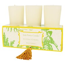 <strong>Seda France</strong> Classic Toile Elegant Gardenia Votive Candle Set