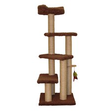 "55"" Step up Cat Tree with Sky Lookout"