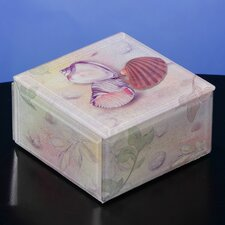 Seashells Glass Music Box