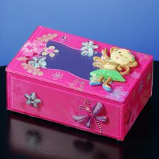 Hula Monkey Glass Music Box