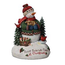 <strong>San Francisco Music Box</strong> Keep Friends Close Snowman Figurine