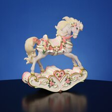 Hearts and Roses Rocking Horse Figurine