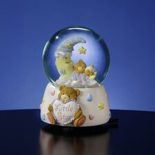 Teddy Bear on Lighted Moon Water Globe
