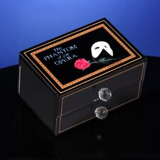Phantom of the Opera Mask and Rose Glass Musical Drawer Box