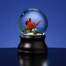 Holiday Cardinal Snow Globe