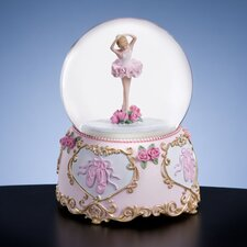 <strong>San Francisco Music Box</strong> Ballerina and Bows Water Globe
