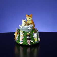 Cats in Bubble Bath Rotating Figurine