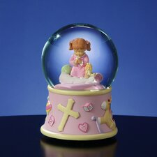 Bedtime Prayers Girl, Rotating Water Globe