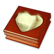 Heart Window Musical Jewelry Box