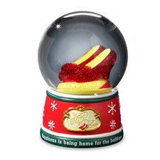 The Wizard of Oz Ruby Slippers Home for the Holidays Water Globe