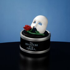 Mask with Rose Mini Rotating Figurine
