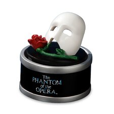 Phantom of the Opera Mask with Rose Mini Rotating Figurine