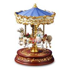 Heritage 3 Horse Rotating Carousel Figurine