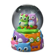 Jingle Jumbles Owl Water Globe